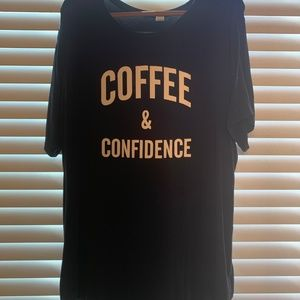Coffee and Confidence Old Navy Shirt